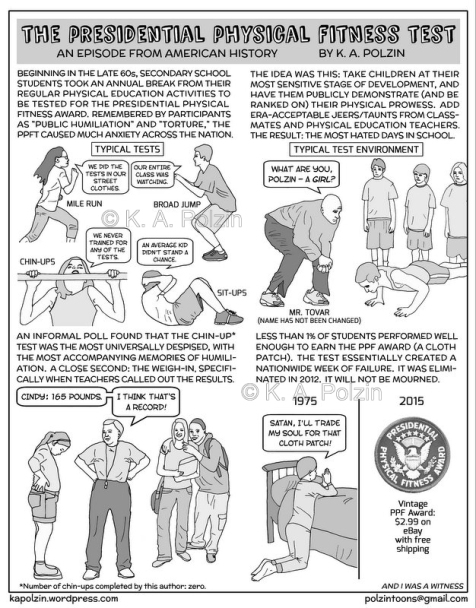 The presidential physical fitness test, b&w watermarked